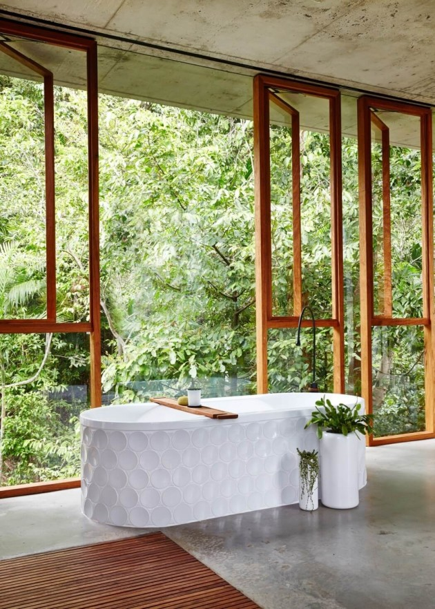 Bathroom Planchonella house jesse bennett architect
