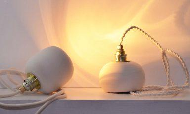 Savi hanglamp van klei voor een natuurlijke touch