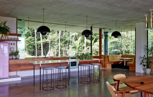 bar rainforest house jesse bennett architect Queensland Australia