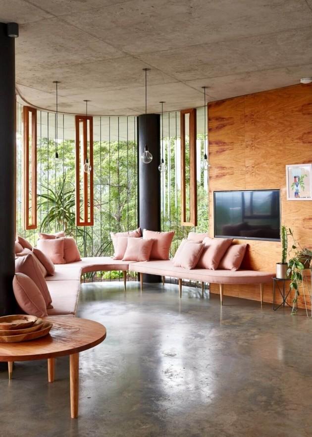 woonkamer planchonella house jesse bennett architect