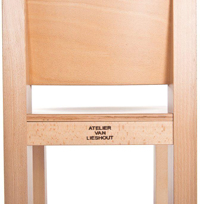AVL Office Barstool Atelier van Lieshout Lensvelt beech detail