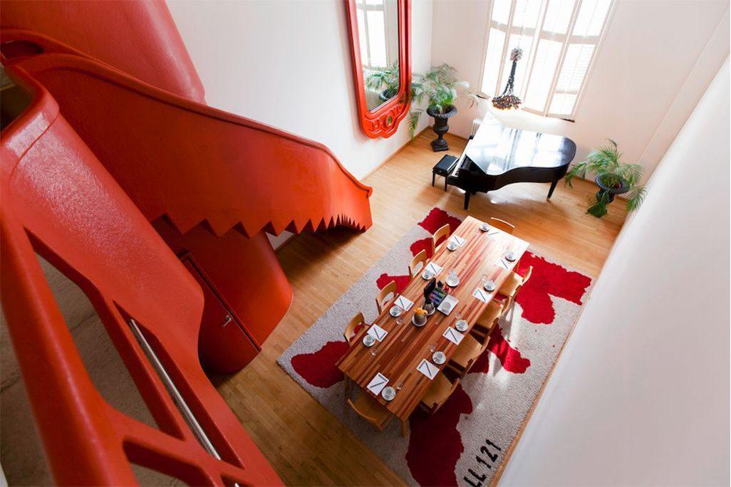 AVL Shaker Table Atelier van Lieshout Lensvelt mixed wood- Lloyd Hotel Amsterdam