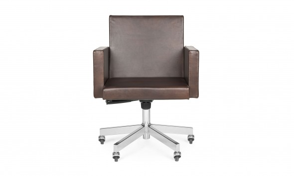 AVL office chair van Lensvelt in Old Saddle leer