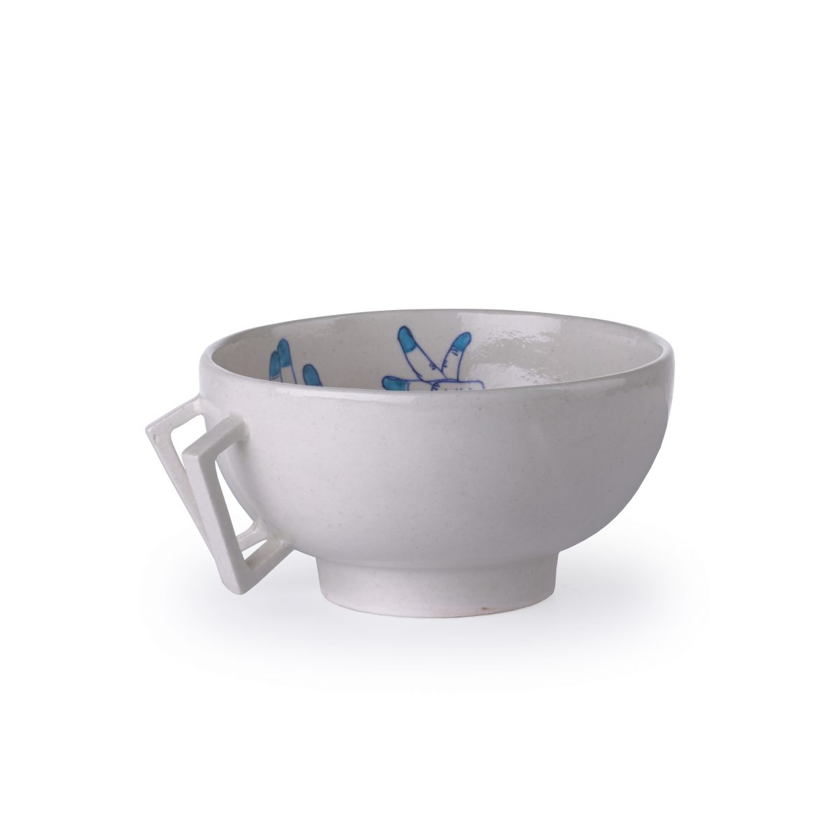 Blue Pottery Bowl M blue Imperfect Design – Gimmii