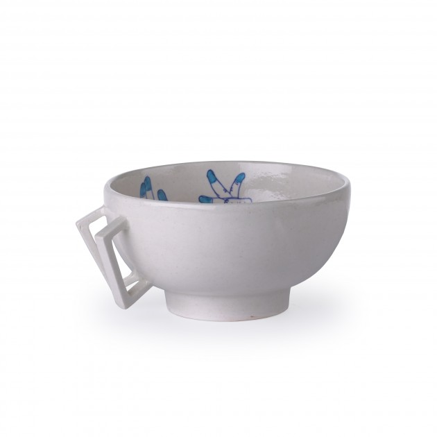 Blue Pottery Bowl M blue Imperfect Design - Gimmii