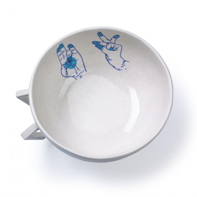 Blue Pottery Bowl Medium blue Studio Makkink & Bey - Gimmii