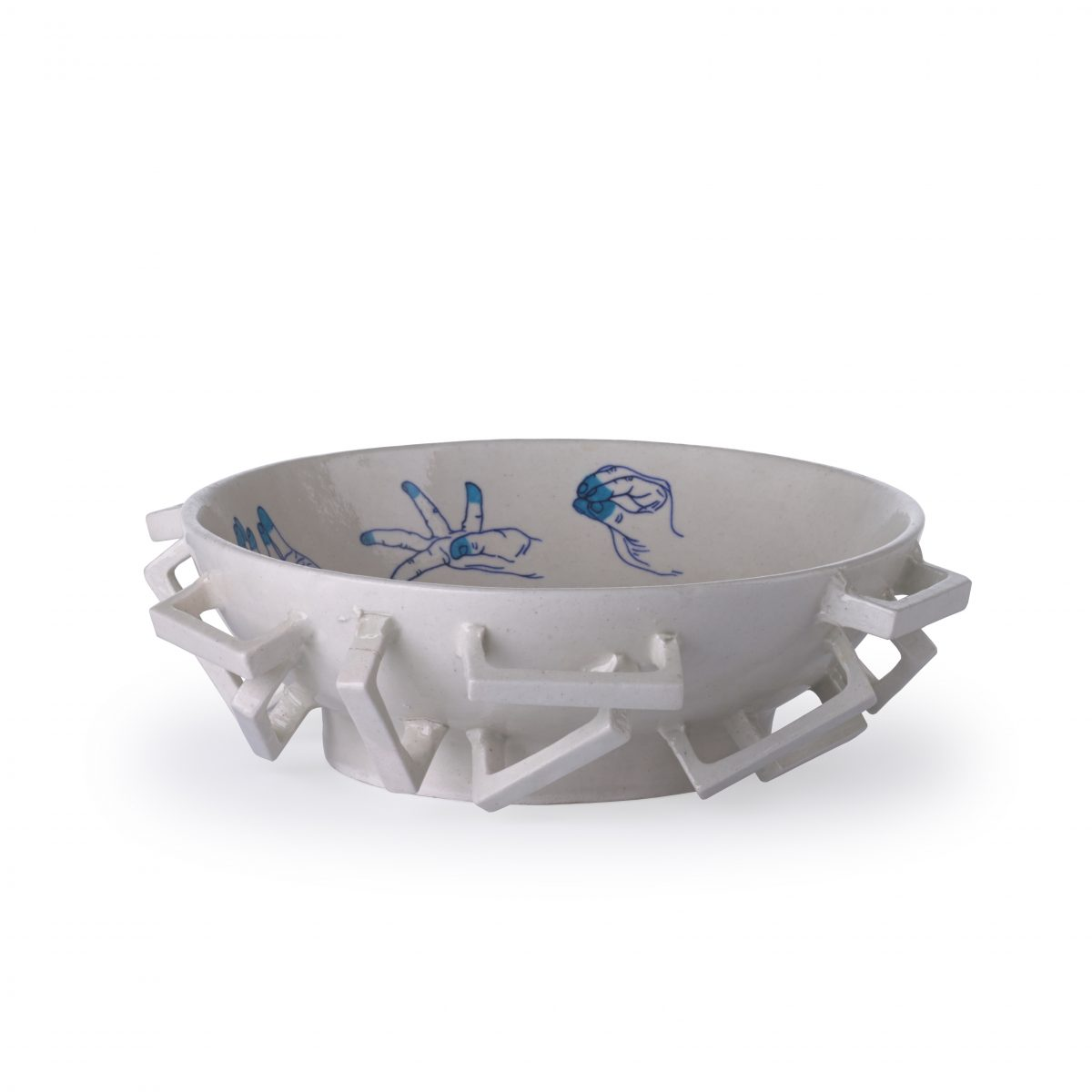 Blue Pottery Bowl L blue Studio Makkink & Bey India – Gimmii