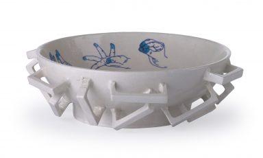 Blue pottery schalen van Studio Makkink & Bey