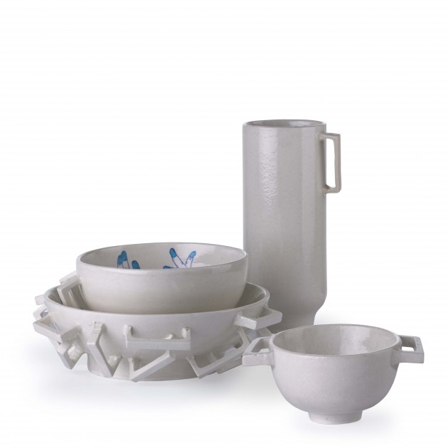 Blue Pottery set blue Studio Makkink & Bey India Dutch design - Gimmii