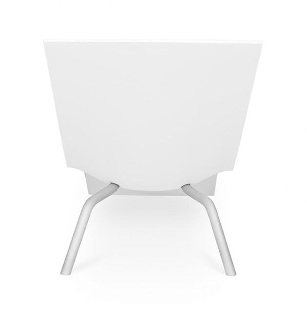 MVS CHL95 lounge chair white Maarten van Severen Lensvelt