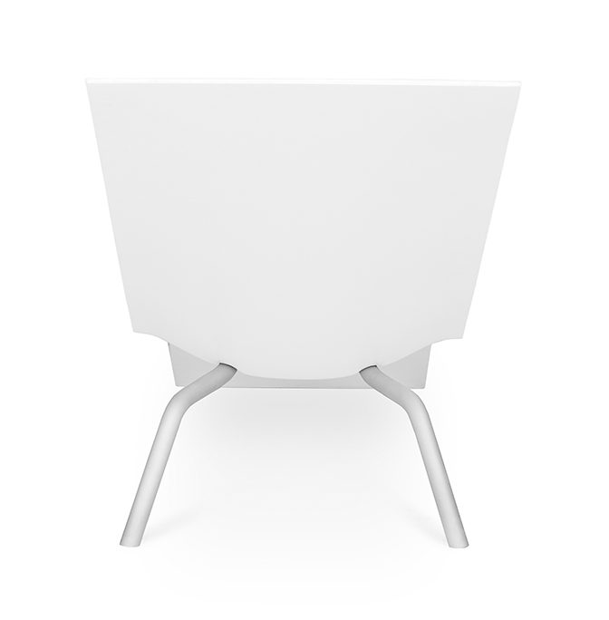 MVS CHL95 lounge chair white Maarten van Severen Lensvelt