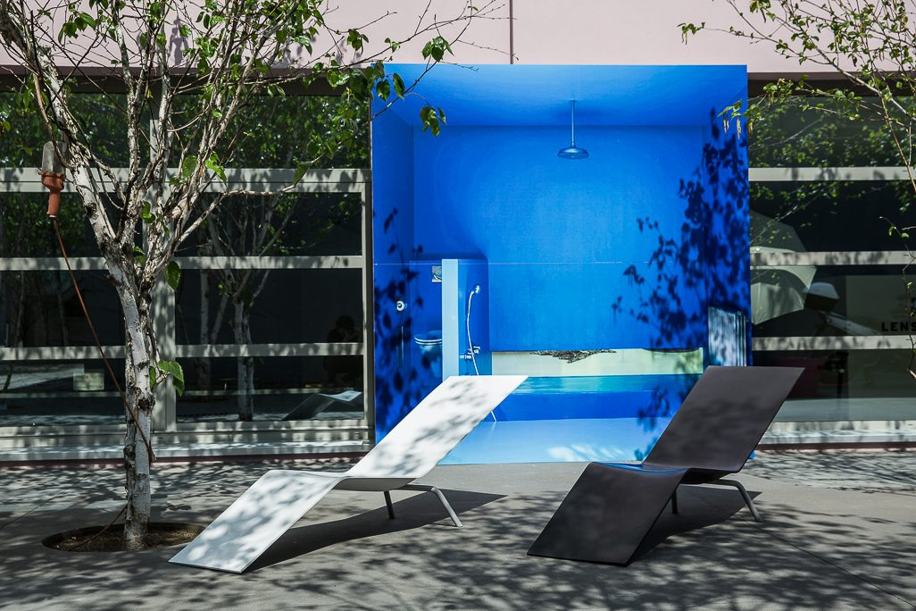 MVS CHL95 lounger Maarten van Severen Lensvelt Salone del Mobile Milan 2014 installation by OMA