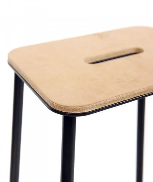 Adam stool leather - photo Marc Van der Voorn - Gimmii