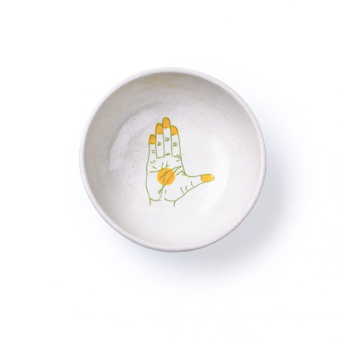 Blue Pottery_ Bowl S yellow by Makkink & Bey