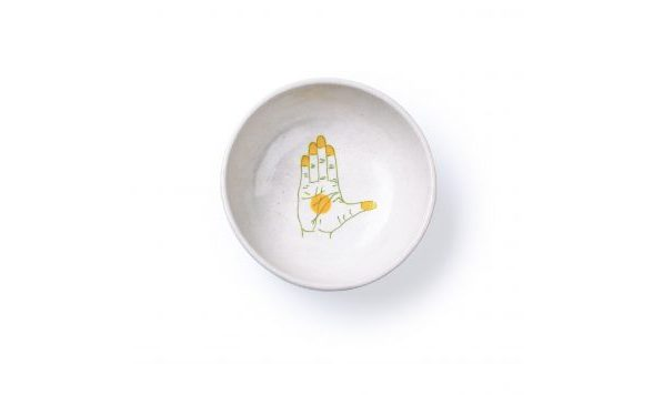 Blue Pottery schaal geel small