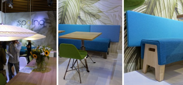 Cake bench and Disque lamp Spoinq Maison & Objet