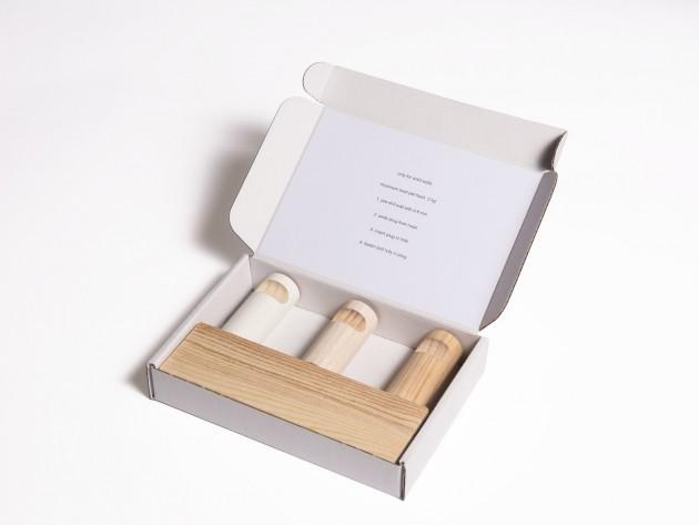 HANDLE haken Stilst wandhaken naturel met verpakking - Gimmii