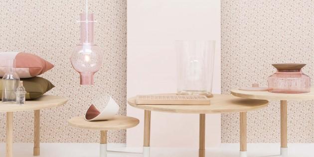 Novecento Ontwerpduo Presentation platter & pendant lamp pink - Gimmii