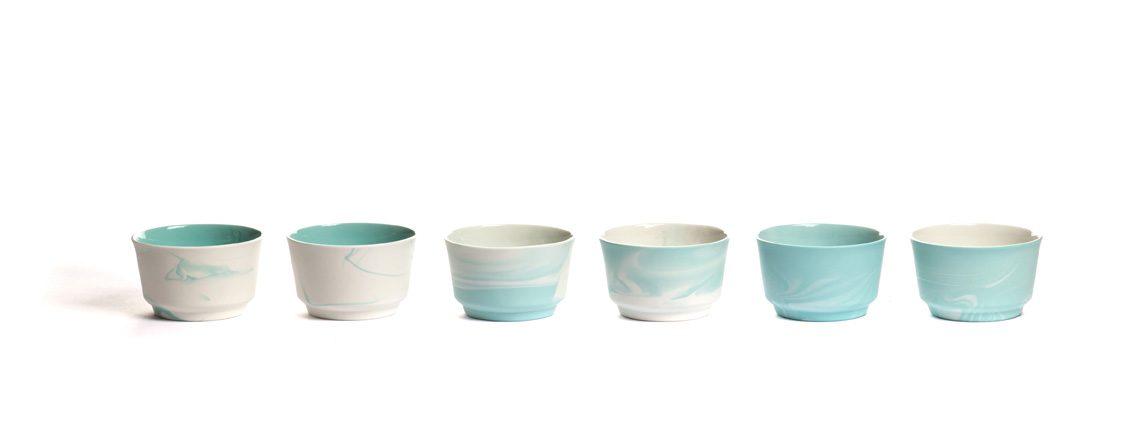 Pigments & Porcelain cappuccino mint by Alissa+Nienke for Vij5 – Gimmii