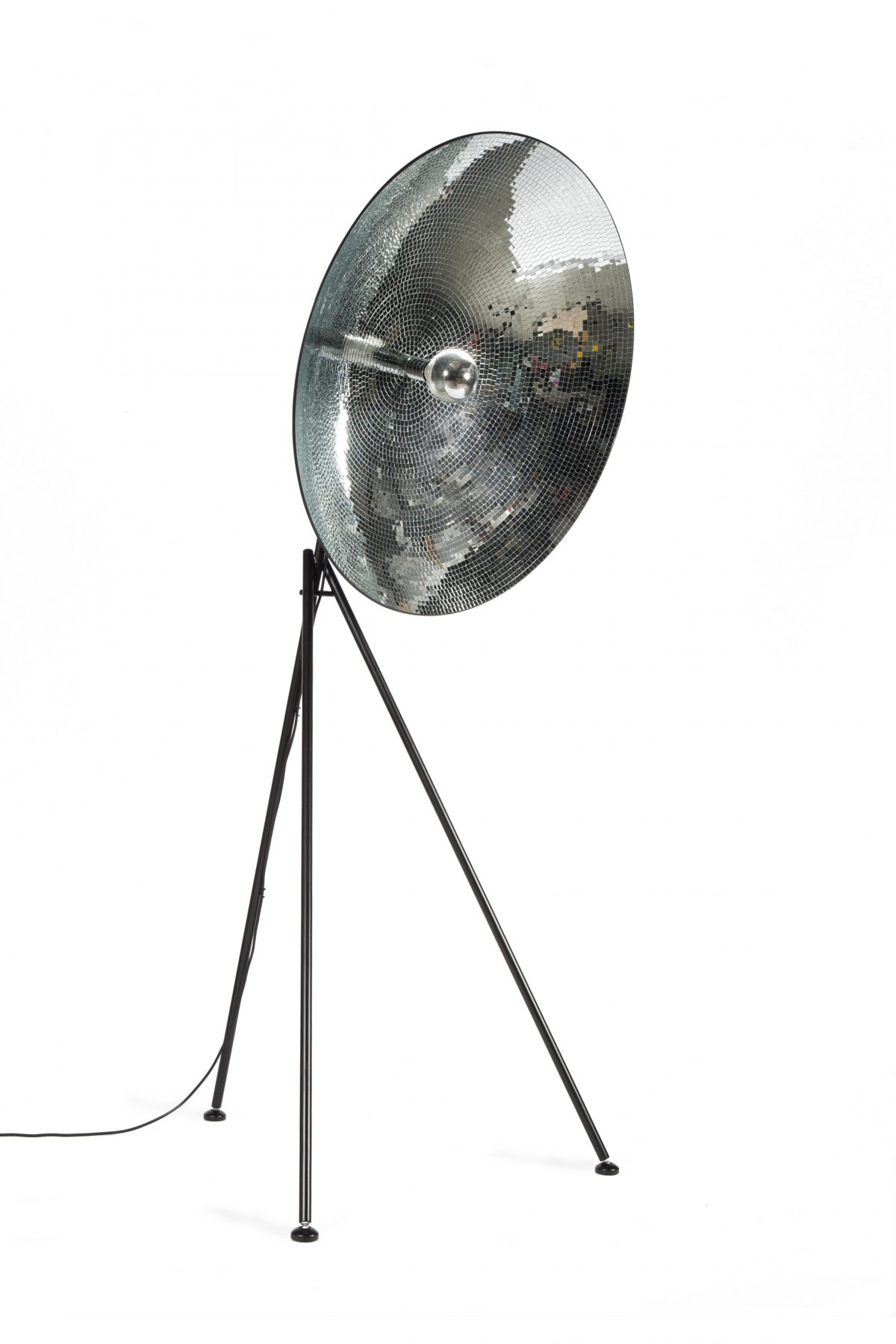 Disco dish vloerlamp