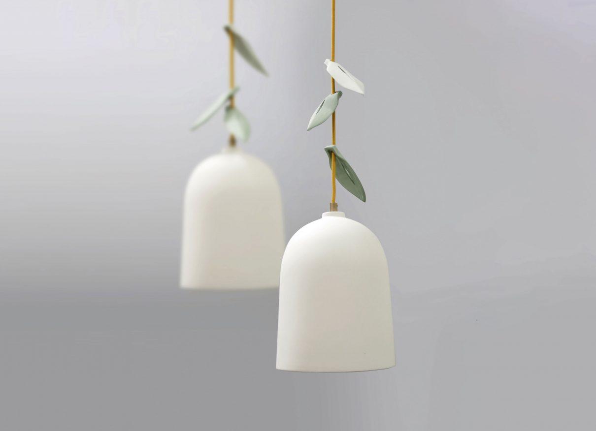 Hanglamp hangende plant van Elke van den Berg