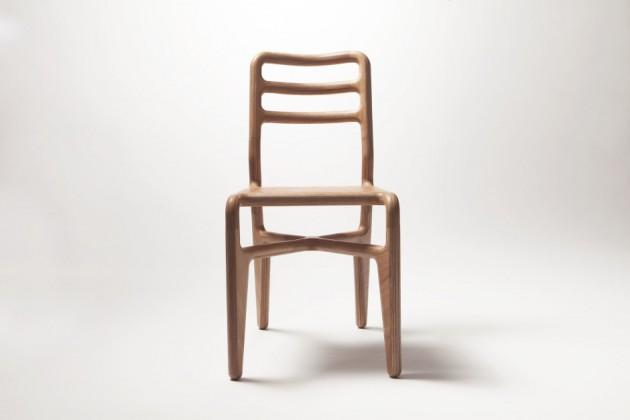 Streamlined chair transparant wood Studio Roex - Gimmii