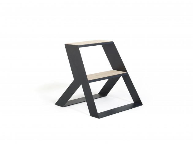 Frederik Roije SPLIT STEP WOOD Dark grey - Gimmii