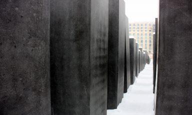 Besneeuwde architectuurfoto's uit Berlijn