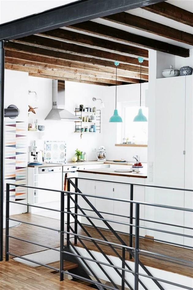 Keuken wit aqua uit lichte woning met interieurtips van Gimmii