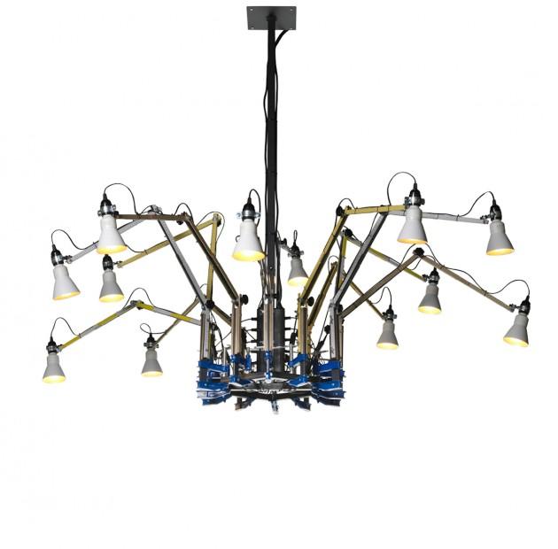 Kroonluchter Tools chandelier Dear Ron 12 armen DHPH & Fabien Dumas lichtobject kunst - Gimmiishop