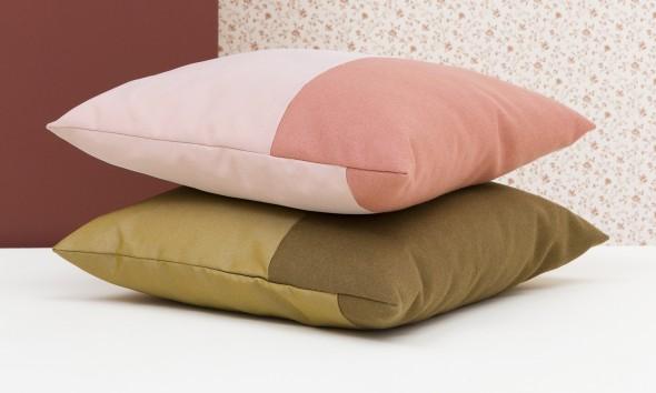 Novecento cushion oker pink Ontwerpduo -Gimmii