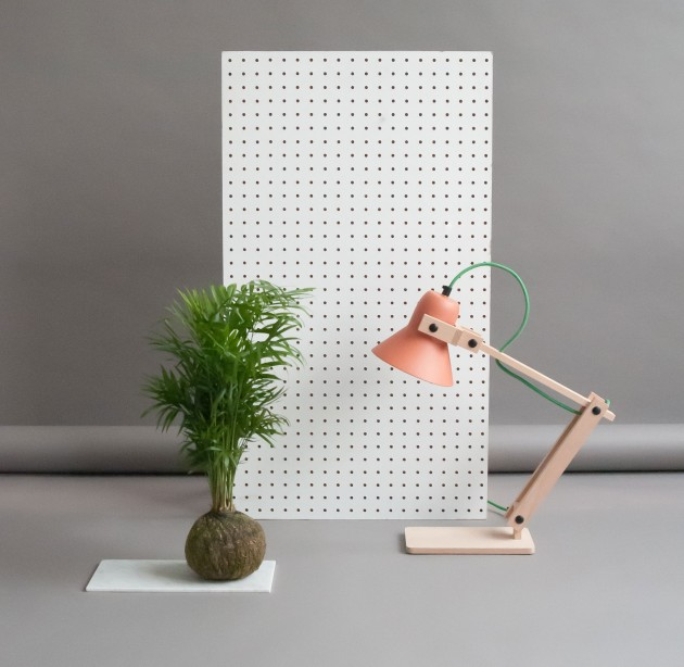 Terracotta Pixoss tafellamp styling - Gimmii