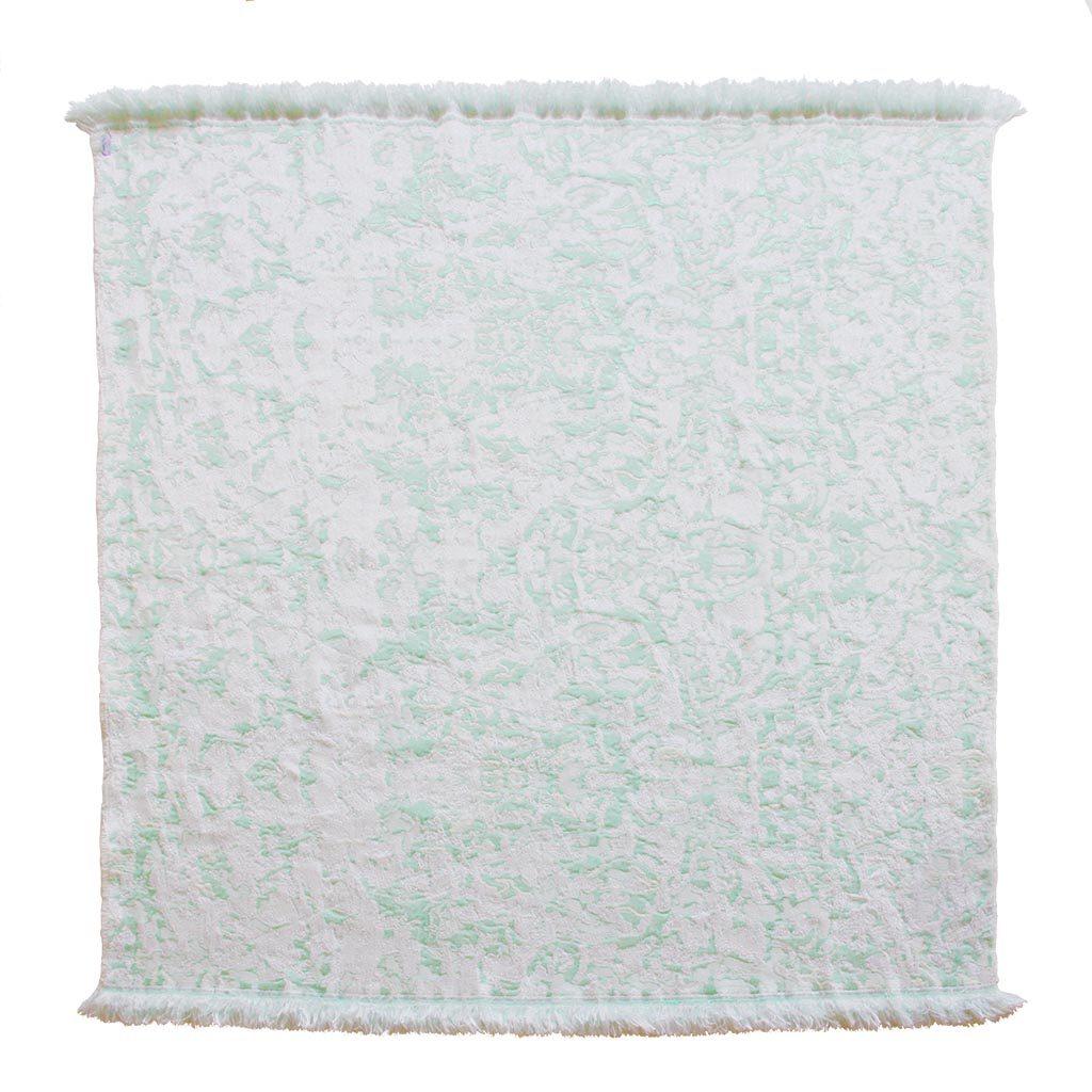 Roos Soetekouw Fringe No7 plaid deken zacht mint achterkant Gimmii