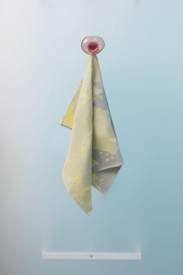 Handdoek-Roos Soetekouw Fungy-geel-dutchdesign-biologischkantoen - Gimmii