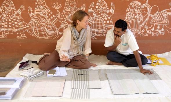 Jolijn Fiddelaers Fibonacci fabrics fairtrade India Vij5 - Gimmii