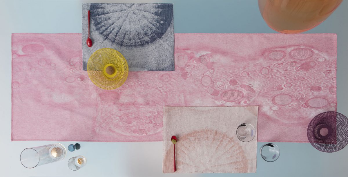 Roos Soetekouw Fungy! collection placemat roze en blauw Gimmii