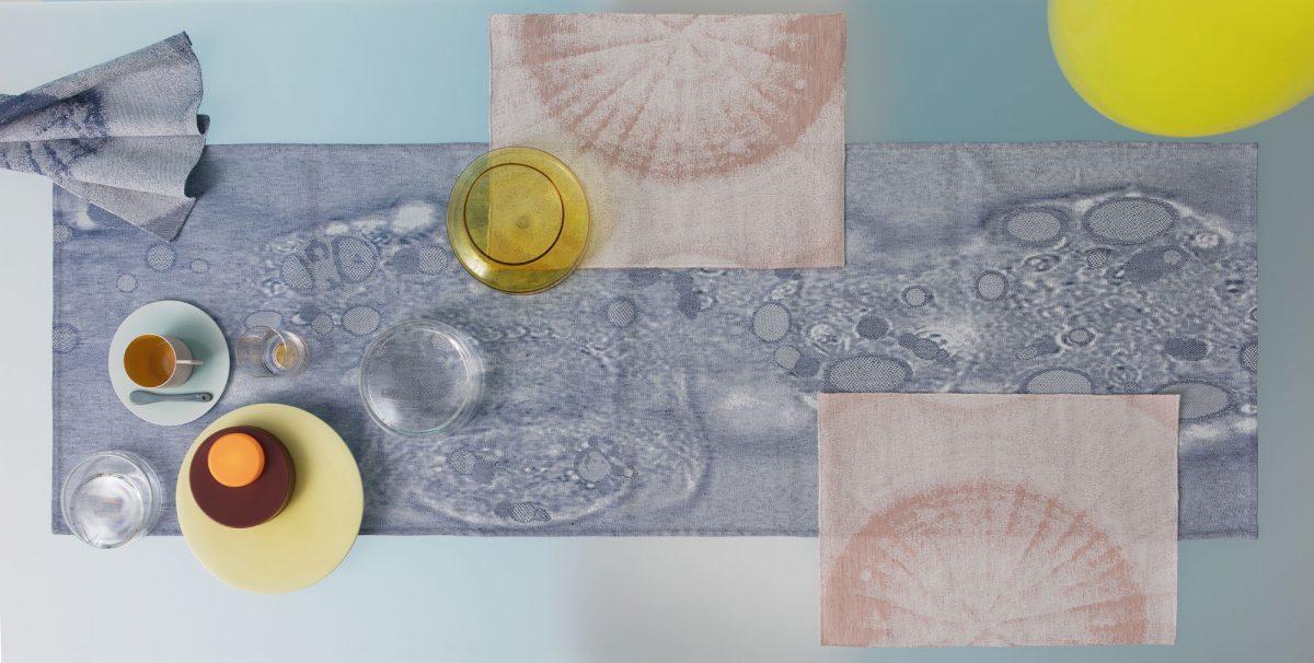 Tafel textielset Fungy; tafelloper met 6 placemats