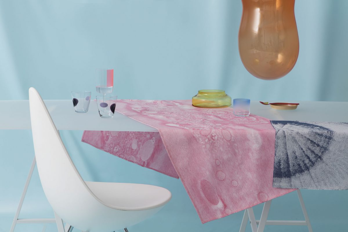 Roos Soetekouw Fungy! collection placemat roze en blauw Gimmii