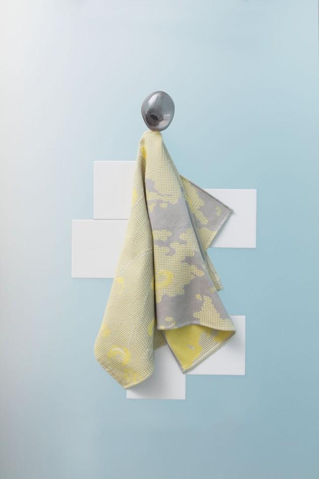 RoosSoetekouw Fungy-Towel-yellow-handdoek-geel - Gimmii