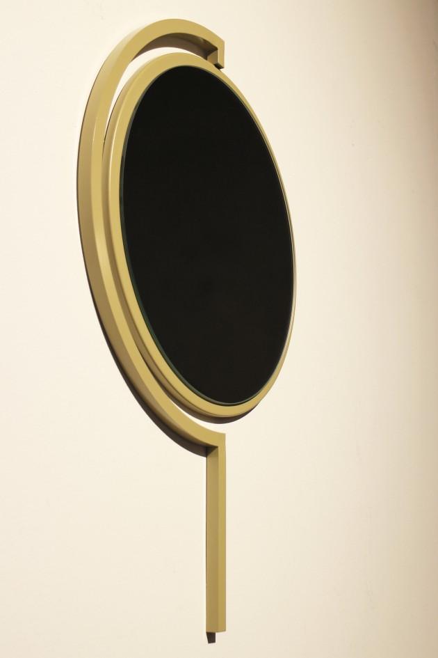 Contorno Mirror Olive Yellow-JoalndaVanGoor-spiegel