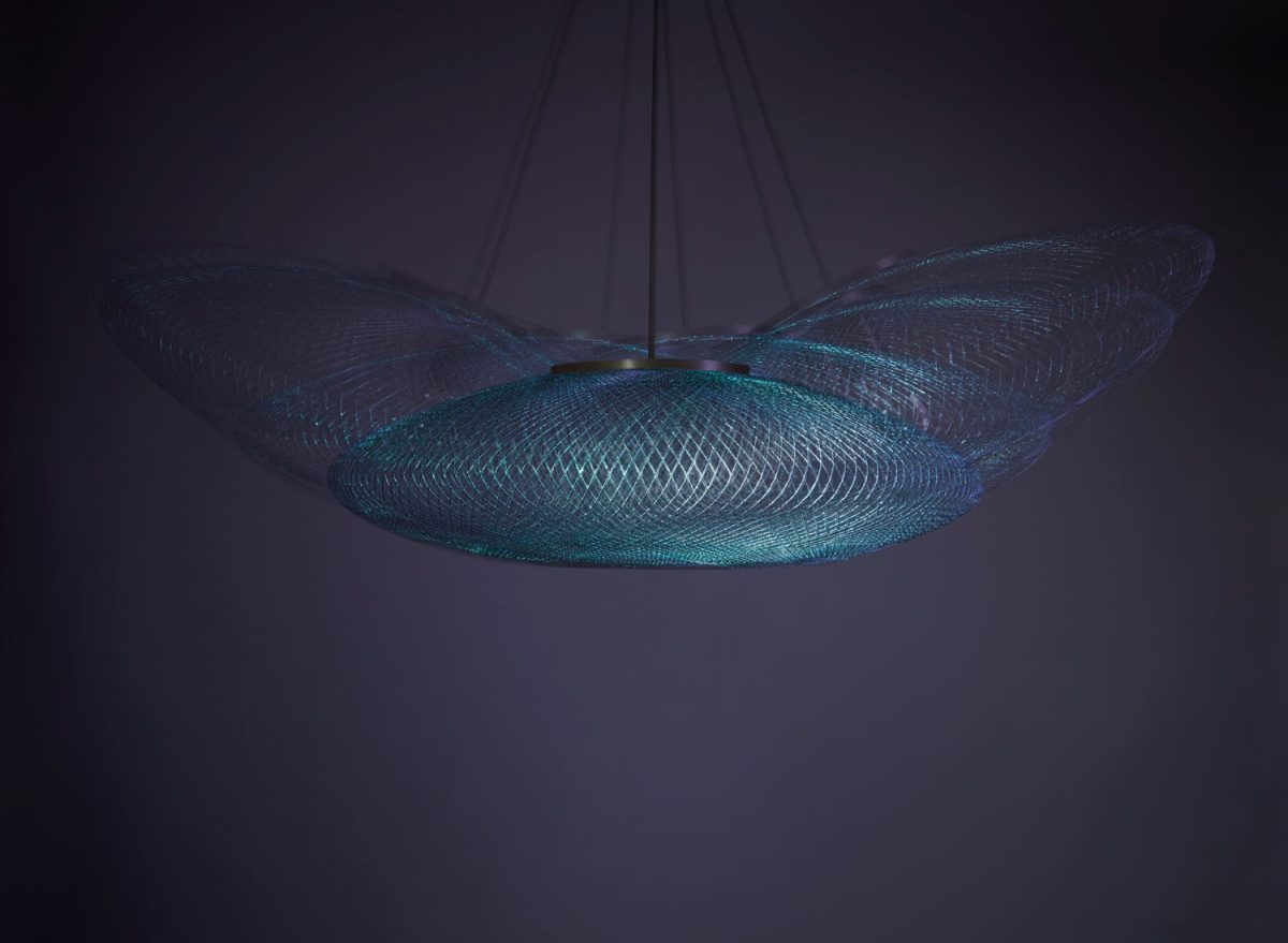 Iridescent iriserende hanglamp atelier robotiq
