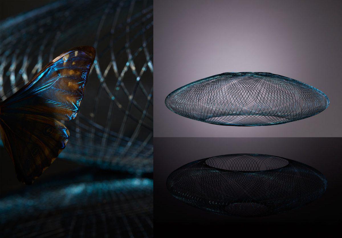Hanglamp iridescent zwart atelier robotiq gimmii
