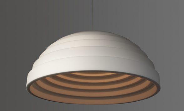 Dome akoestische lamp