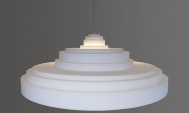 Akoestische ornamenten lamp