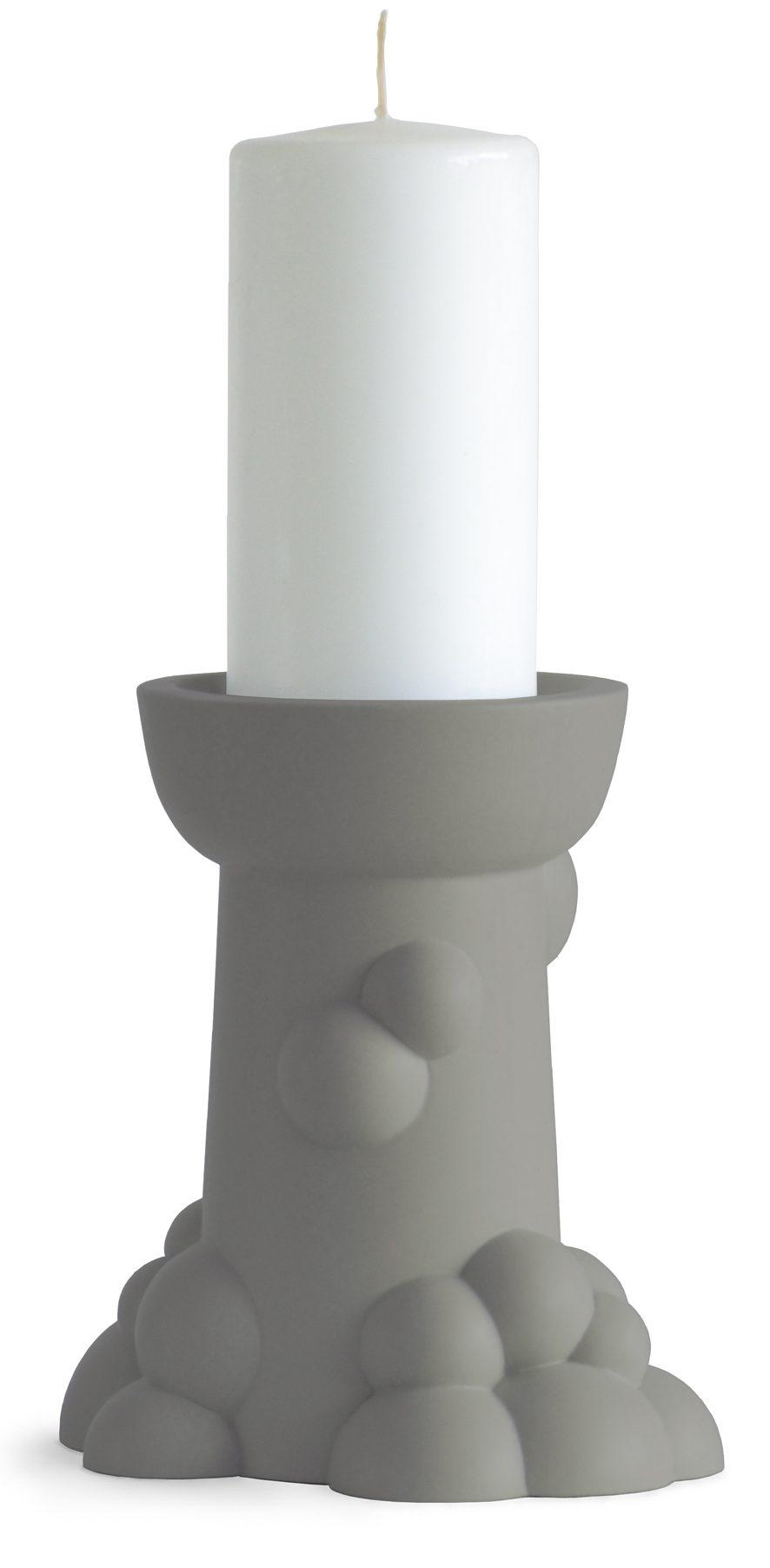 Bubble kandelaar groot groengrijs-BubblecandleholderLarge-JORINE-Oosterhoff-Dutchdesign – gimmii