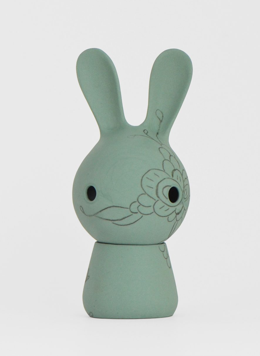 Cuniculus Large met lijfje rabbit with body groen decoratie