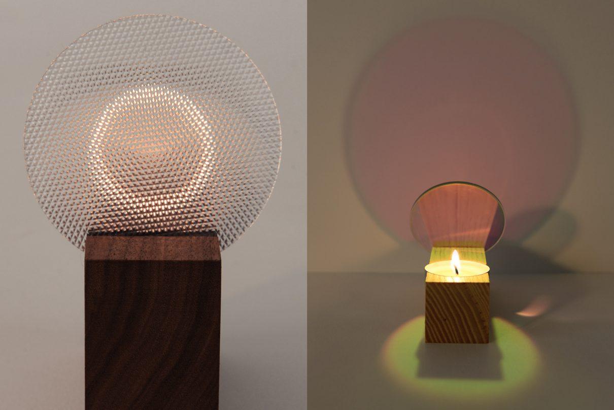 Spannende reflector Colour tealight holder