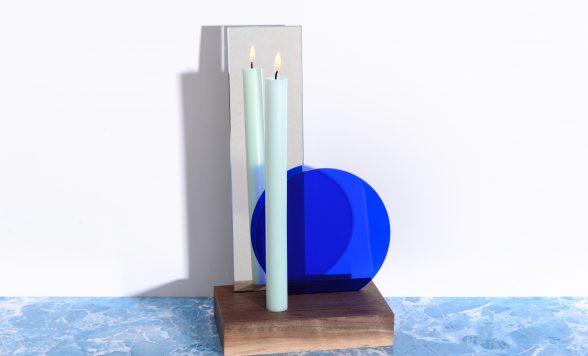 Tafel spiegel met kaars