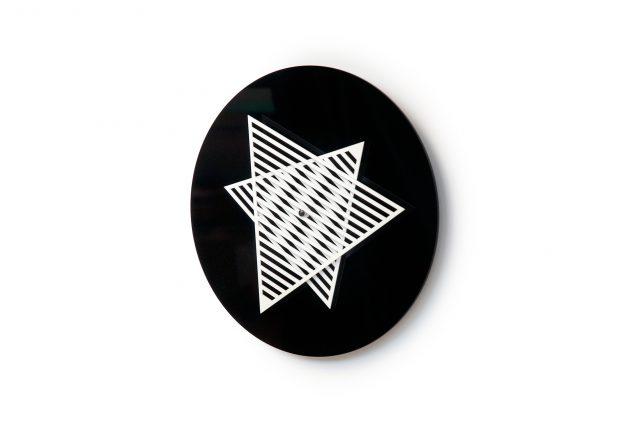 TIME PATTERN klok geometrisch zwart wit - gimmii