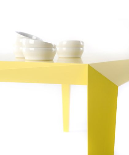 VOLT table  yellow Reinier de Jong gimmii shop dutchdesign